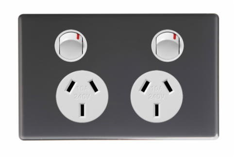 Ubran grey socket outlet