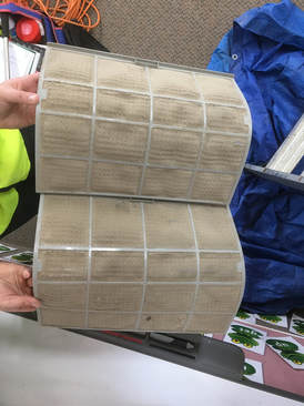 dirty heat pump filters