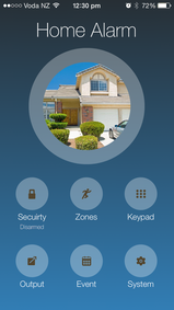 Home security arm and disarm by smart phone